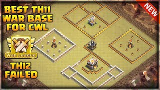 Best Th11 War Base For CWL 2019 , Th12 Failed Twice ,Anti Electro Drag ,Anti Bowler | Clash of Clans