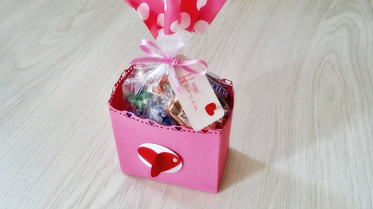 basteln geschenk verpackung mit geschenk t te und viel