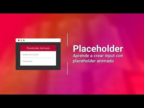 PLACEHOLDER ANIMADO | SuperPlaceholder | HTML5 - CSS3 - JavaScript