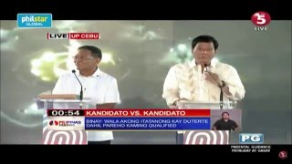 Duterte says Binay is more qualified to be a president