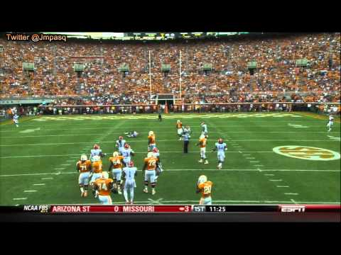 Tyler Bray vs Florida 2012