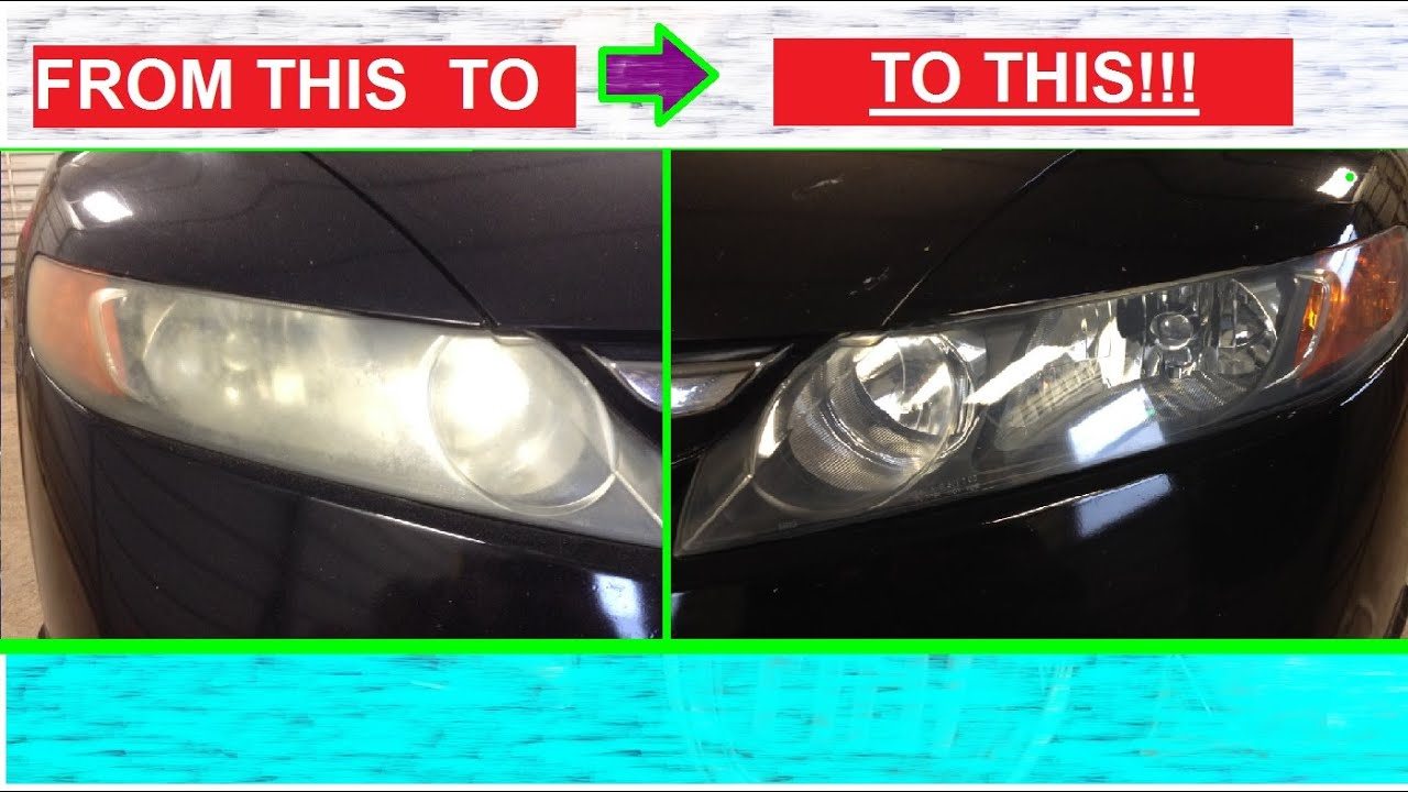 Honda Civic Headlights >> Make your Headlights Shiny and Clear like NEW AGAIN ...