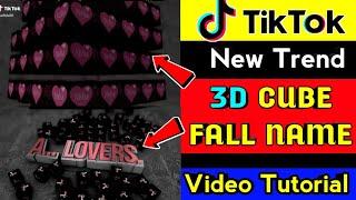 Tiktok new trend cube name video   Tiktok new trend box name art