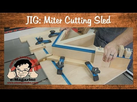 Build A Homemade Table Saw Sled For Cutting Miters And Picture