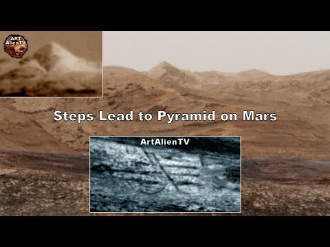 Steps Lead to Pyramid on Mars - Forbidden City - ArtAlienTV