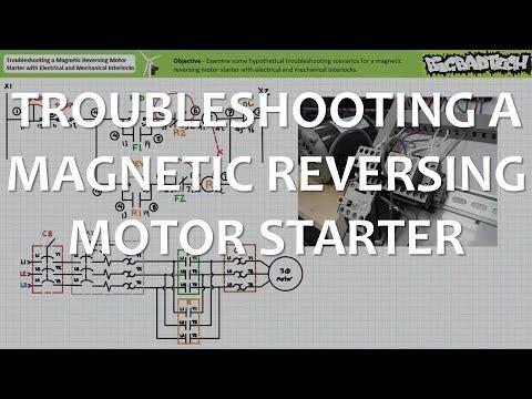 Troubleshooting a Magnetic Reversing Motor Starter with Interlocks on