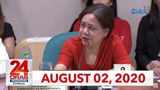24 Oras Weekend Express: August 2, 2020 [HD]
