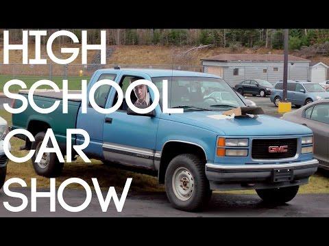 What a High School Car Show looks like...