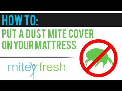 How to put an Allergy Free Dust Mite Cover onto Your Mattress (video 2)