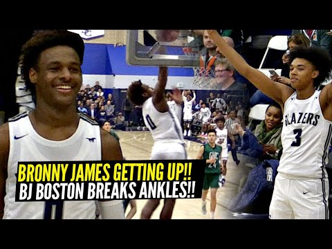 Bronny James & BJ Boston TOYING w/ Defenders!! Bronny GETTING UP!! Sierra Canyon UNFAIR Game!!