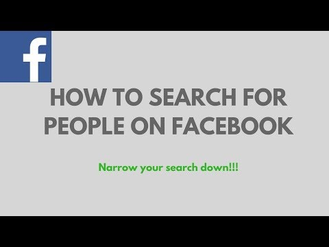 Facebook Search People By City | How to Find  People on Facebook