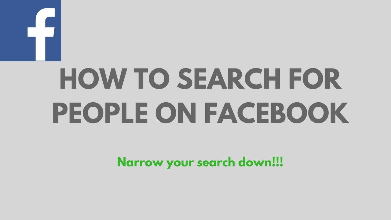 Find people on facebook by photo