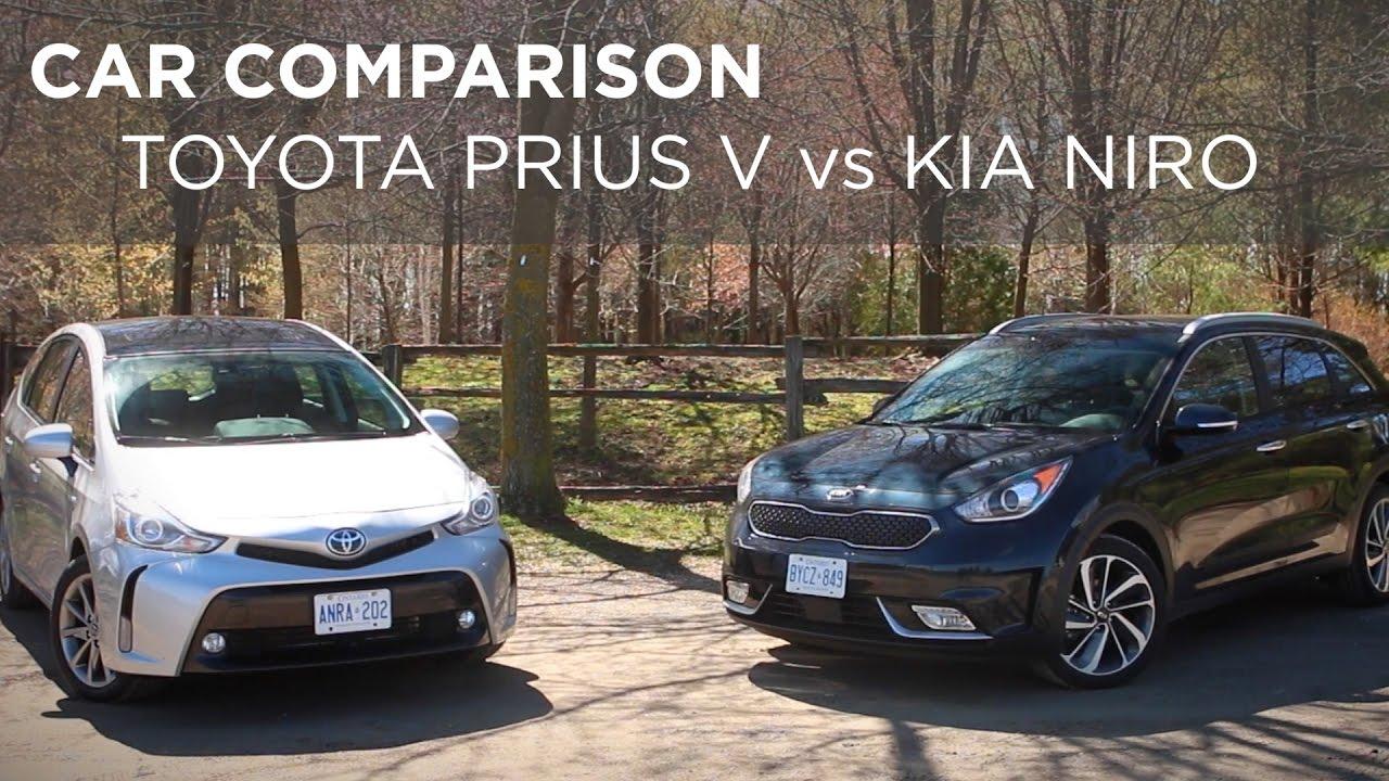 Car Comparison Toyota Prius V Vs Kia Niro Driving Ca