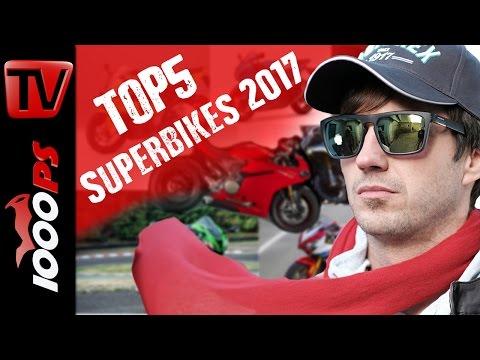 Top 5 - Die besten Superbikes aus dem Modelljahrgang 2017 im Vergleich