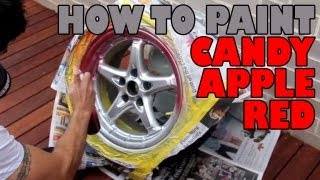 How to paint candy apple red