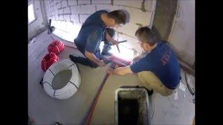видео Замена радиаторов отопления. Монтаж сантехники.