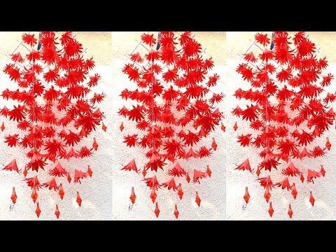 WOW !!! Beautiful Paper Jhumar || Wall Hanging Making at Home. 2907