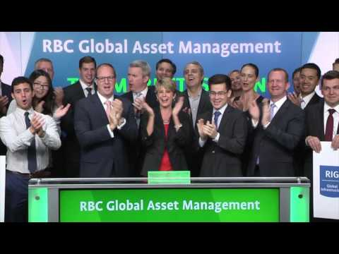 RBC Global Asset Management opens Toronto Stock Exchange, September 27, 2016
