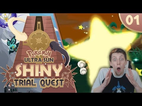 AT LONG LAST!! A SHINY!! | #01 Pokémon Ultra Sun Shiny Trial Quest! | W/ SilverBeanie