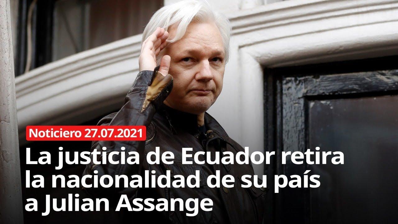 Download La justicia de Ecuador retira la nacionalidad de su país a Julian Assange - 27/07/2021