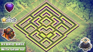 Updated Clash of Clans Town Hall 10 Hybrid Base With Gear Ups 2017 ♦ Dark Elixir Farming Base