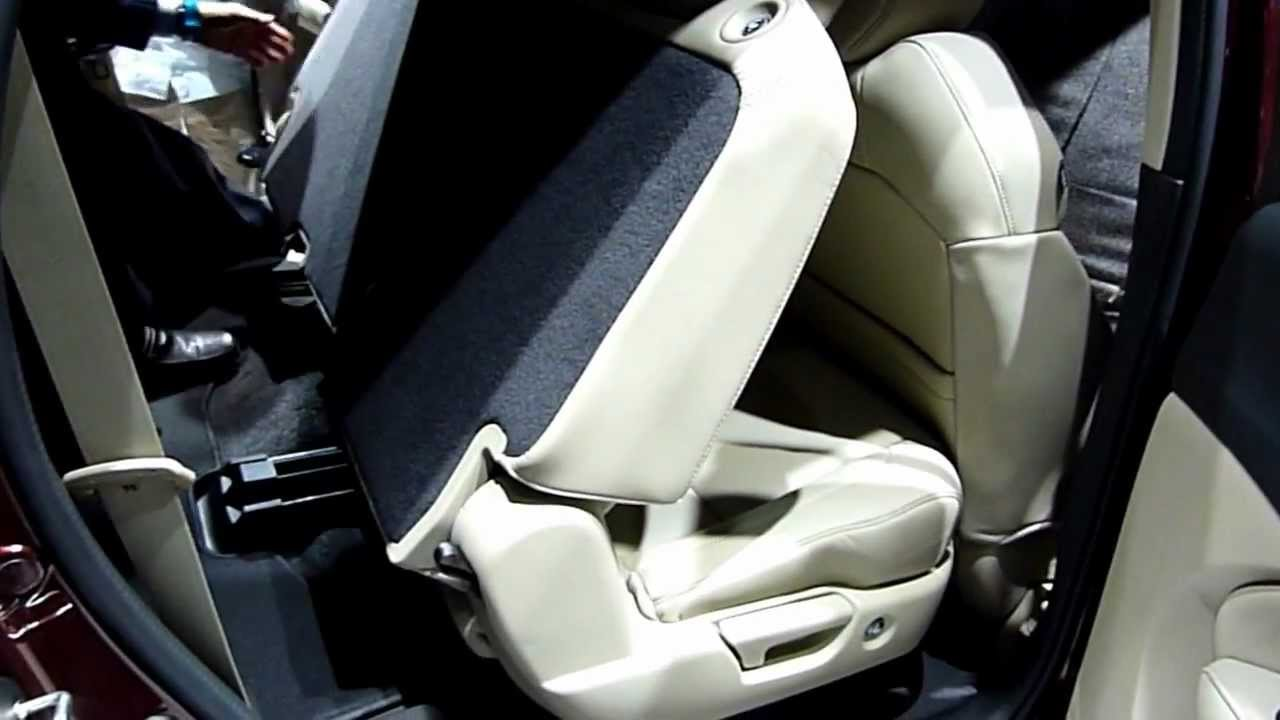 2014 acura mdx 2nd row seats youtube. Black Bedroom Furniture Sets. Home Design Ideas