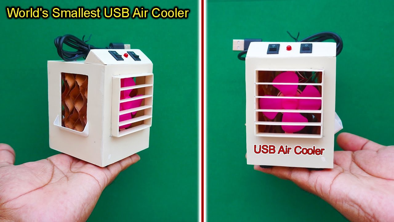 Download World's Smallest USB Air Cooler | How To Make A Mini Air Cooler | USB Water Air Cooler | Air Cooler