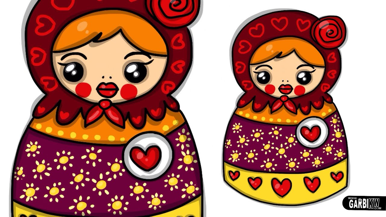 How To Draw A Matryoshka Doll by Garbi KW - YouTube