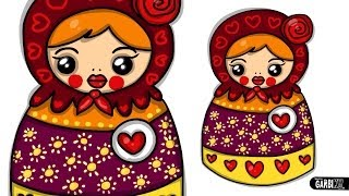 How To Draw A Matryoshka Doll by Garbi KW