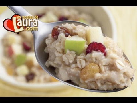 Desayuno Saludable ♥ Avena con leche de almendras ♥ Las Recetas de Laura♥Recetas para perder peso