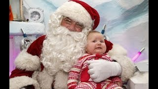 Funny Babies Reaction to Meeting Santa for the first time -  Cute Baby Videos