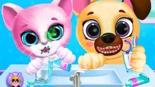 Kiki & Fifi Pet Friends - Play Fun Furry Kitty & Puppy Care - Animal Bathe, Dress Up Feeding Games
