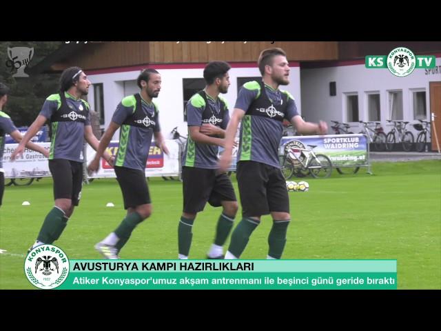 Atiker Konyaspor'umuzun Avusturya kampında beşinci gün geride kaldı