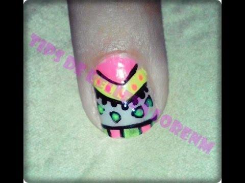 Diy Nails Uñas Decoradas Con Figuras Geométricas Tips De Belleza Lornm