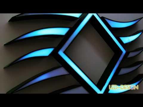 "Logo Luminoso ""Coral Club""  Led-Design.it - YouTube"