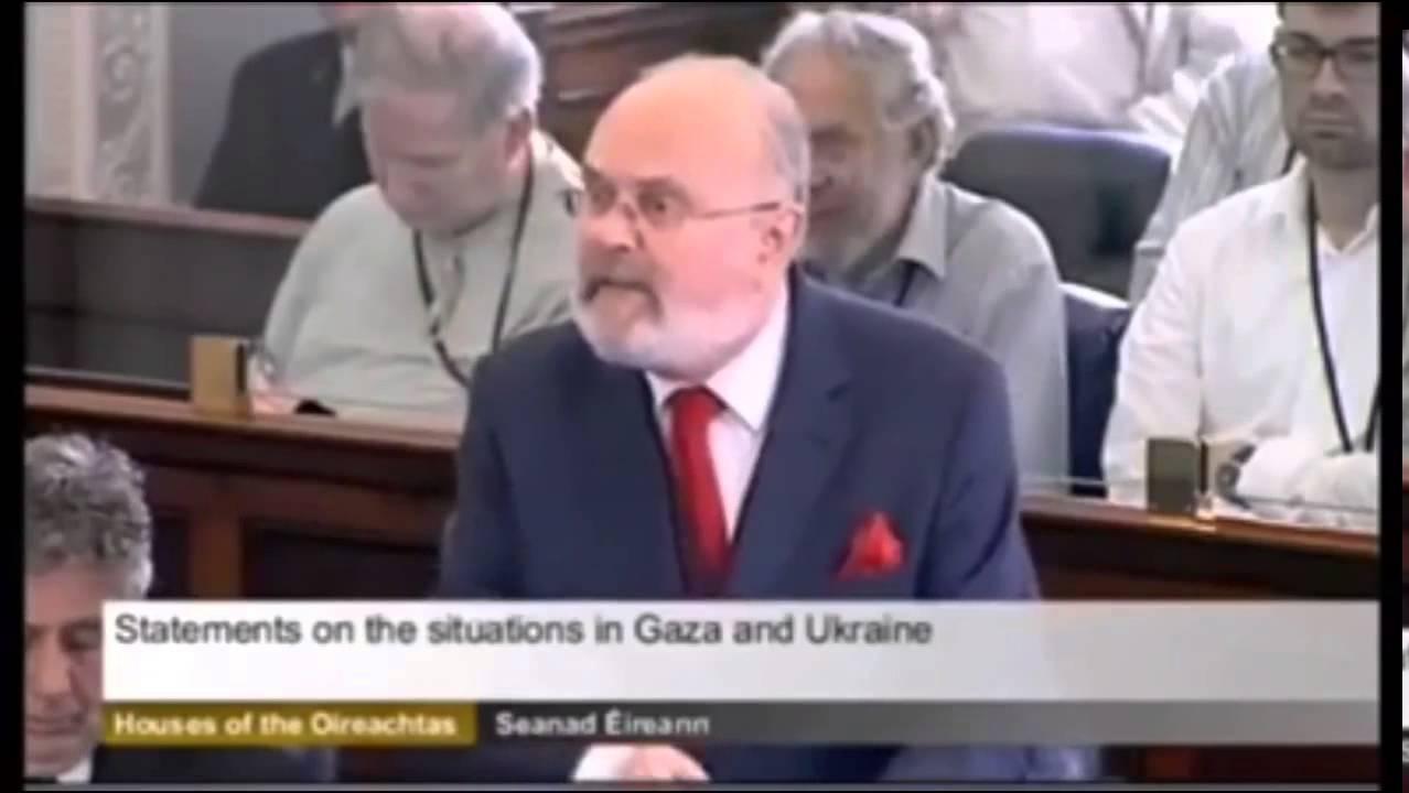 Senator David Norris Rips Israel Apart In Ireland's Parliament!!