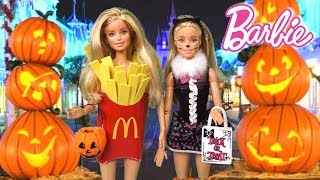 Barbie Twins Halloween Party in Disney World Evening Routine
