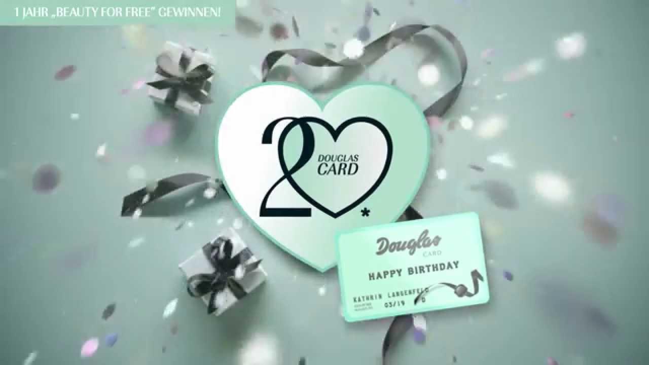 happy 20 douglas card gewinnspiel youtube. Black Bedroom Furniture Sets. Home Design Ideas