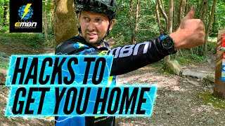 How To Fix A Snapped Chain & Gear Cable On A Ride | EMTB Trailside Hacks Part 1