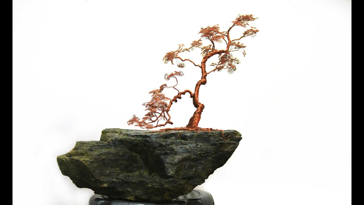 Bonsai Tree Made With Copper Wire Youtube