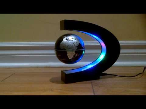 Review of the C shape LED World Map Magnetic Floating Globe