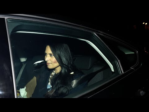 Priti Patel leaves Downing Street after resignation