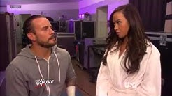 RAW 25th June, 2012 CM Punk & AJ Lee