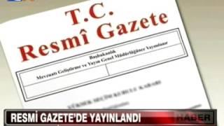 Resmi Gazete'de Yayınlandı