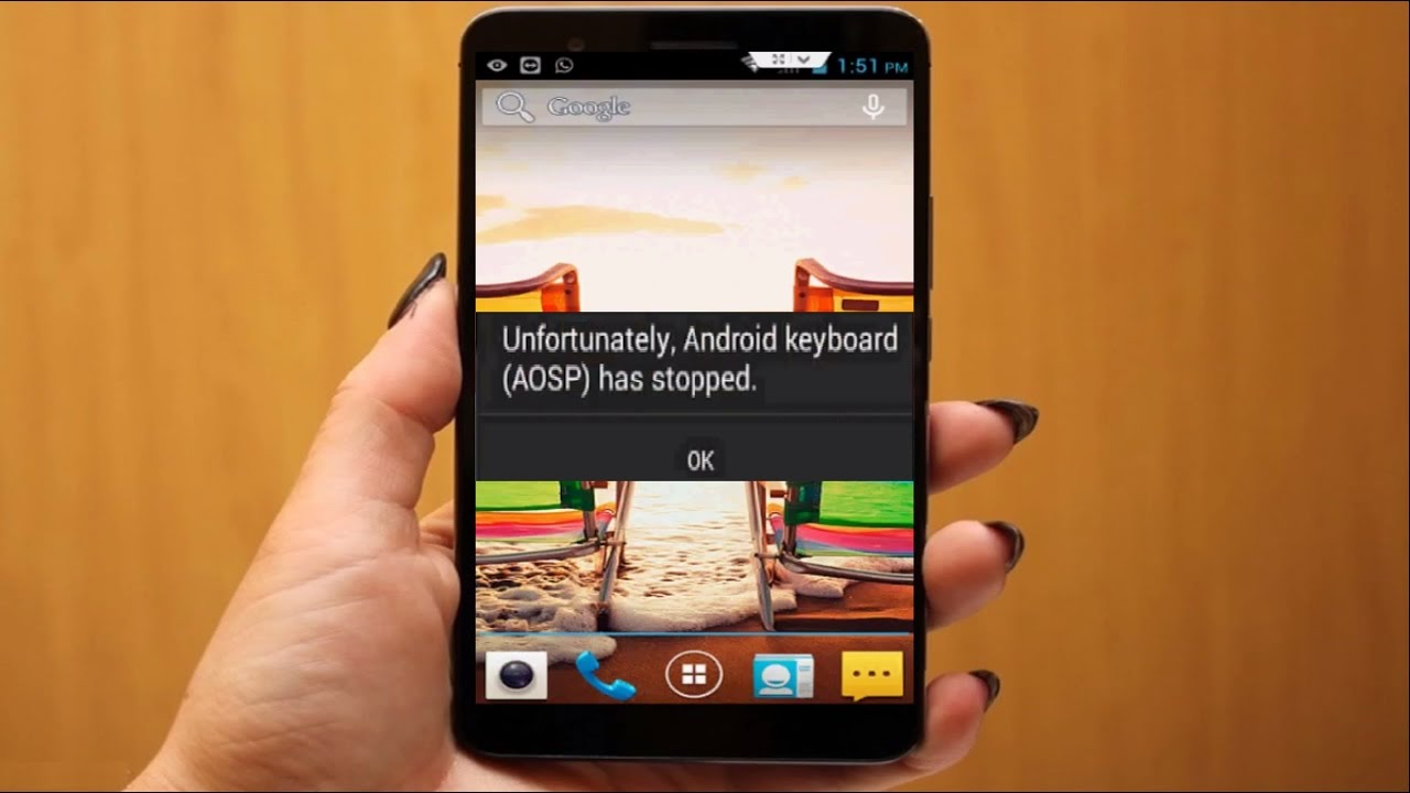 My lg keyboard has stopped working - How To Fix Unfortunately Android Keyboard Aosp Has Stopped Error In Android