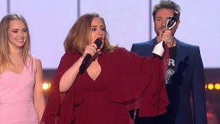 'Hello' by Adele wins British Single | The BRIT Awards 2016