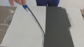 Как сделать идеальный стык из красок двух цветов? Без подтеков под малярную ленту.