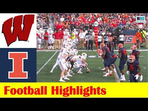 Wisconsin vs Illinois Football Game Highlights 10 9 2021