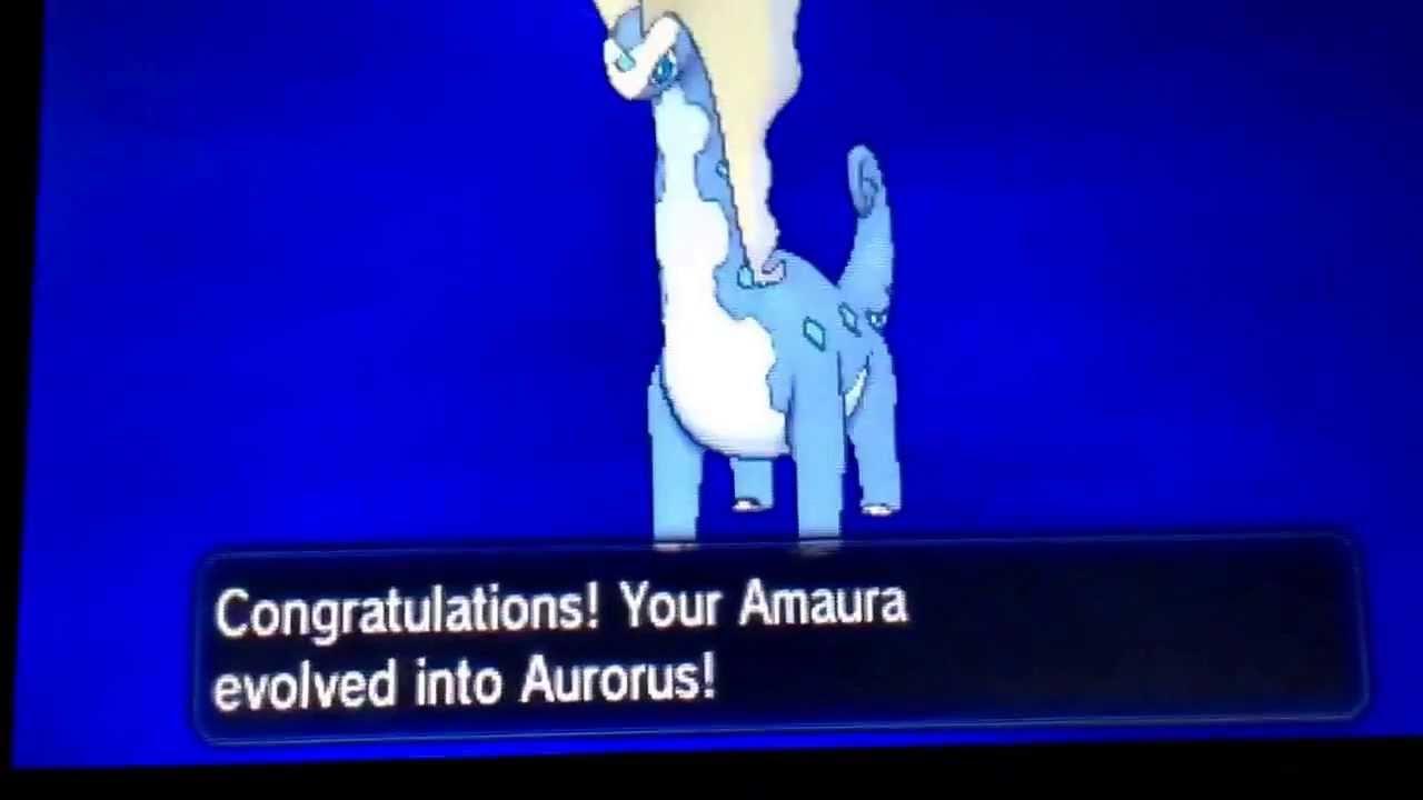 how to evolve amaura on pokemon y youtube
