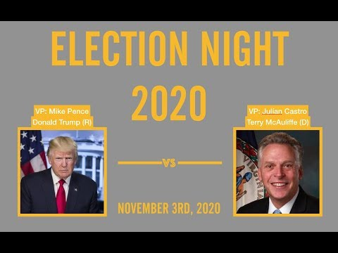 2020 Election Night | Terry McAuliffe vs Donald Trump